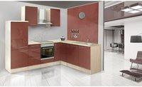 Respekta Premium L Küche Akazie bordeaux (260x200 cm)