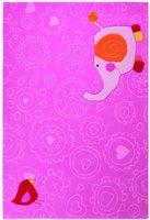 sigikid Happy Zoo Elephant rosa 90x160cm
