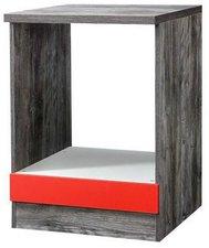 Held Möbel Herdumbau Sevilla 60 cm rot