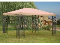 Grasekamp Pavillon Blätter 3 x 4 m sand
