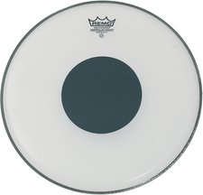 Remo Smooth White Controlled Sound Black Dot 18 ""