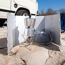 Semptec Faltbarer Alu-Windschutz für Gaskocher