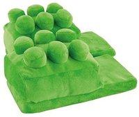 United Labels Plüsch Hausschuhe Baustein grün