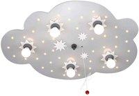Elobra Deckenlampe Sternenwolke 5-flg. + 40 LED - silber
