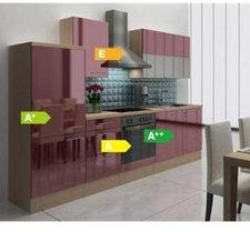 Respekta Küchenzeile Premium 280 cm Bordeaux-Akazie (RP280ABOC)