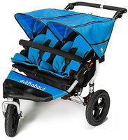 Out N About Zwillingsbuggy Nipper V4 Lagoon Blue