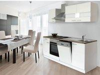 Respekta Küchenzeile 220 cm weiß (KB220WW)
