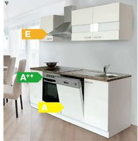 Respekta Küchenzeile 220 cm weiß (KB220WWC)