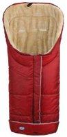 Urra Techno Fleece Fußsack Deluxe rot/beige