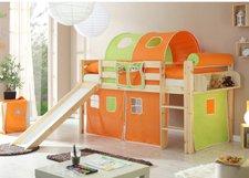 Ticaa Rutschbett Manuel (natur) - Classic orange/grün