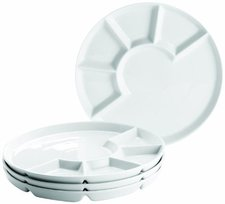 Domestic Fondueteller Porzellan 24 cm 4er-Set