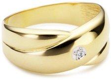 Bella Donna Gelbgoldring mit Diamant (1035)