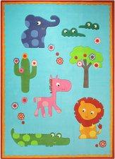 Esprit Home Kinder-Teppich Zoo türkis 70x140cm