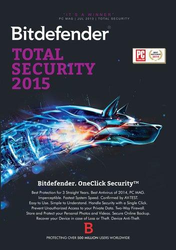 BitDefender Total Security 2015 (3 User) (1 Jahr) (DE) (Win) (ESD)