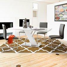MCA-furniture Freischwinger Echtleder grau (3017SLG)