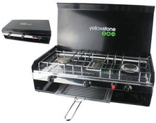 Yellowstone Deluxe Double Burner with Grill & Lid
