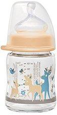 Nip Weithalsflasche Glas 120 ml mit Silikonsauger