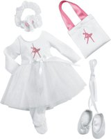Zapf Creation Nelli dreams Kleiderset Ballerina weiß