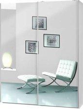 CS Schmal Soft Smart weiß Spiegeltüren (75.900.012/41)
