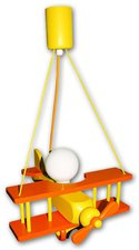 Waldi Pendellampe Flugzeug 1-flg. - orange/gelb