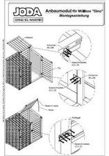 Jorkisch Mülltonnenbox DINO Anbaumodul mit Rückwand für 1 x 240 Liter Tonne