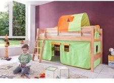 Relita Halbhohes Spielbett Kim - grün/orange