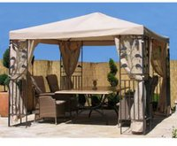 Grasekamp Seitenwand Set Pavillon Blätter 3 x 3 mn sand
