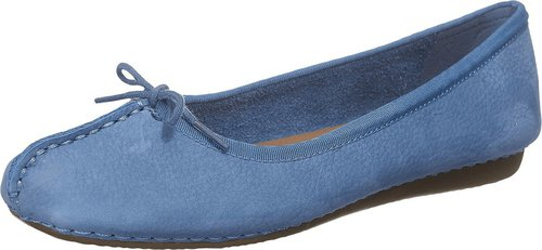 Clarks Freckle Ice mid blue nubuck