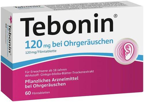 Schwabe Tebonin 120 mg bei Ohrgeräuschen Filmtabletten (60 Stk.)