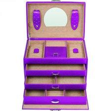 Windrose Metallic Schmuckkoffer pink 24 cm