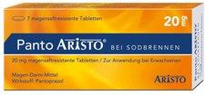 Aristo Pharma Panto Aristo bei Sodbrennen 20 mg magensaftresistente Tabletten (7 Stk.)