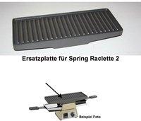 Spring Switzerland Alu-Grillplatte für Raclette 2+
