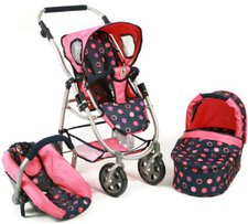 Bayer Chic Puppenwagen Emotion 3in1 All In corallo navy