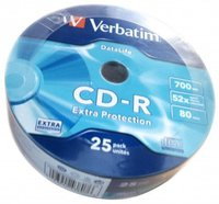 Verbatim CD-R Extra Protection 700MB 52x 25er Bulk