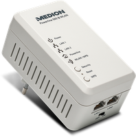 Medion LIFE Powerline WLAN Adapter P85149 (MD87319)