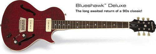 Epiphone Blueshawk Deluxe ME Midnight Ebony