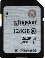 Kingston 128GB SDXC UHS-I Class 10 (SD10VG2/128GB)