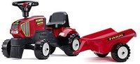 Falquet & Cie Tracteur Baby Power Master rot + Anhänger (1013B)