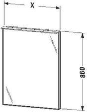 Duravit X-Large Spiegel beleuchtet (H2729102626)