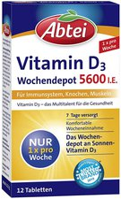 Abtei Vitamin D3 5.600 I.E. Wochendepot Tabletten (12 Stk.)