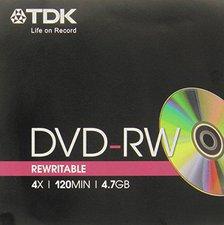 TDK DVD-RW 4,7GB 120min 4x 1er Jewelcase