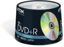 TDK DVD+R 4,7GB 16x 50er Spindel