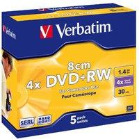 Verbatim DVD+RW Mini 1,4GB 30min 4x Matt Silber 5er Jewelcase