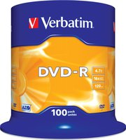 Verbatim DVD-R 4,7GB 16x Matt 100er Spindel