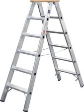 Geis & Knoblauch Stufenstehleiter beidseitig (51708)