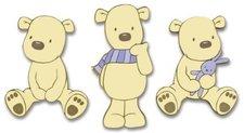 Decofun Wandfigurenset 3-teilig My Teddy Bear