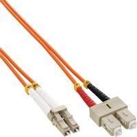 InLine LWL Kabel Duplex LC/SC 50/125 OM2 15m