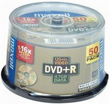 Maxell DVD+R 4,7GB 120min 16x bedruckbar 50er Spindel