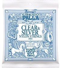 Ernie Ball Ernesto Palla Nylon Classical Clear & Silver