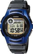 Casio W-213-2AV blue